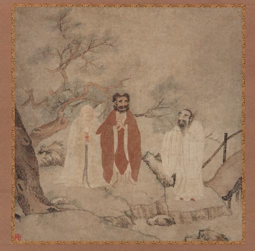 Sakyamuni, Lao Tzu, and Confucius ming